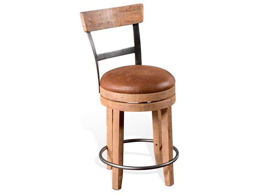 Metro Flex Rustic 2pcs Swivel Stool With Full Back Shop