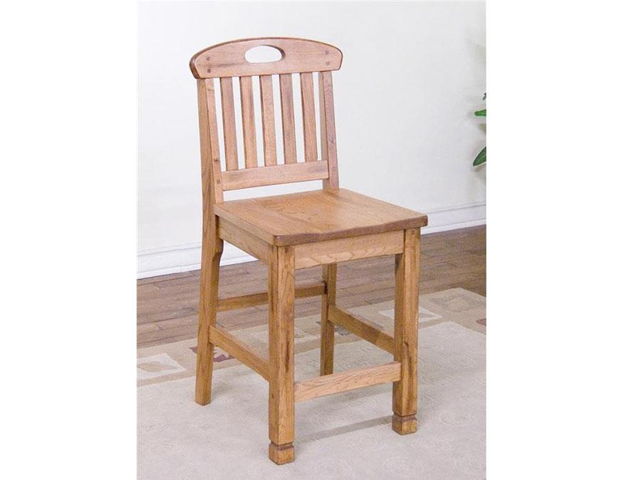 Sedona 2pcs 24 Quot H Slat Back Barstool In Rustic Oak Shop