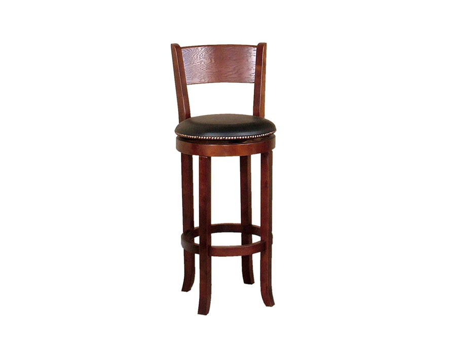 Cappuccino 2pcs Swivel Barstool W Back Shop For