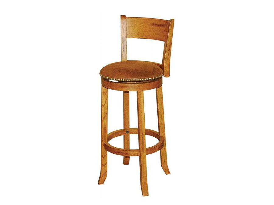 Sedona 2pcs 30 Quot H Swivel Barstool With Back In Rustic Oak
