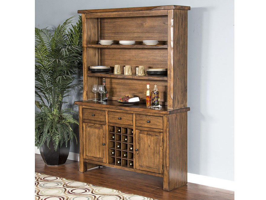 Carey live edge buffet hutch shop for affordable home