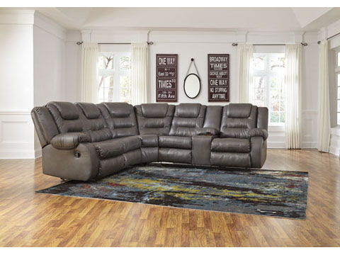 Walgast Grey Reclining Sectional