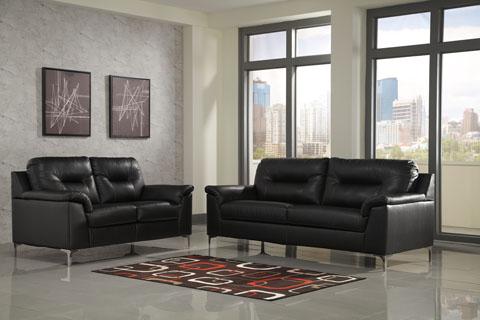 High Quality Tensas Black Sofa Set
