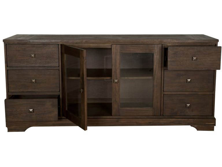 Exceptionnel Traditions Rustic Java Hudson Media Cabinet