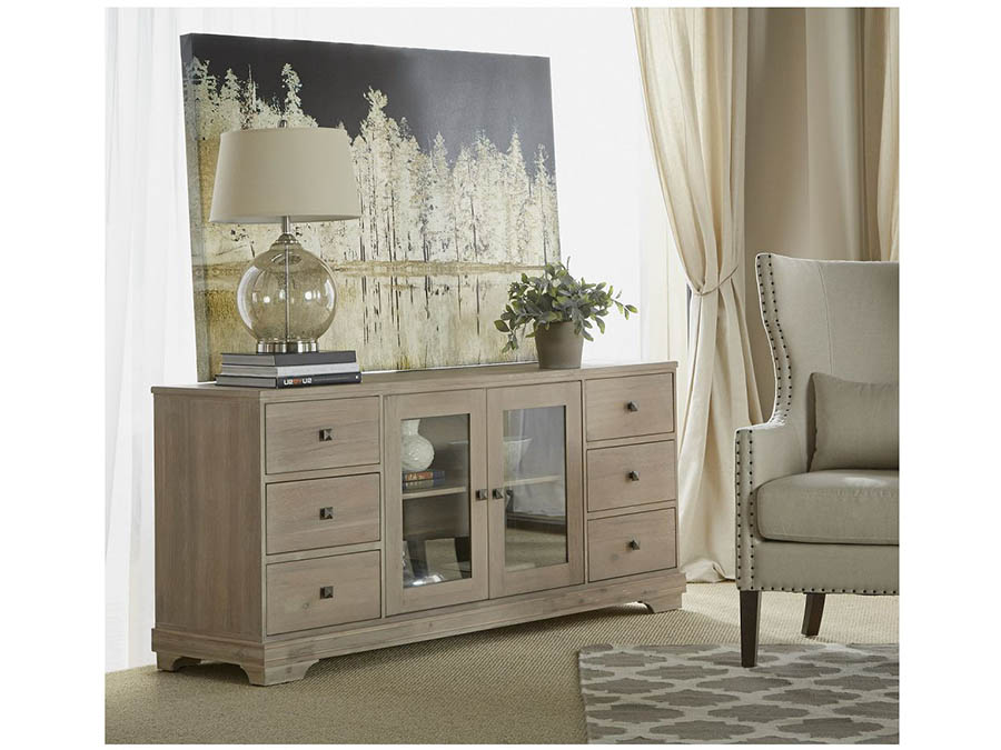 Merveilleux Traditions Stone Wash Hudson Media Cabinet