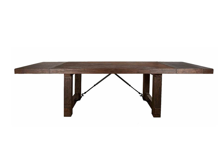 Rustic Java Rectangular Extendable Trestle Dining Table Shop For