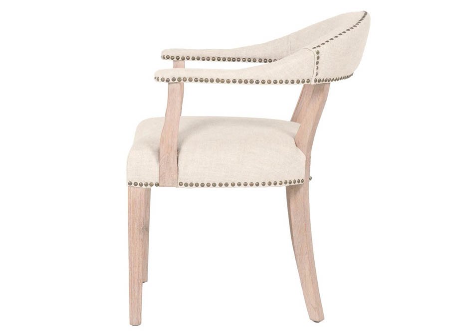 Ansel Bisque French Linen Accent Chair