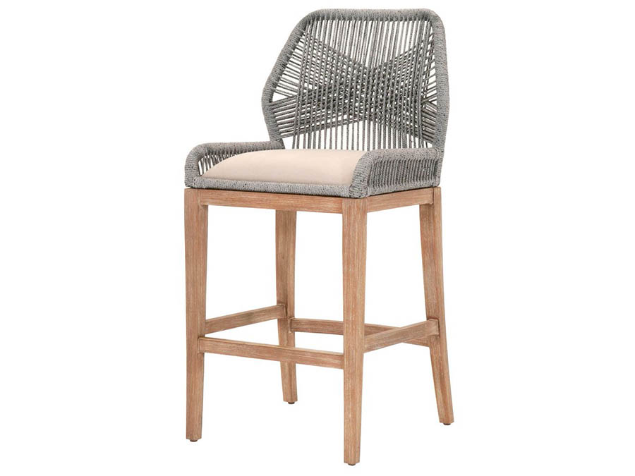 Wicker Loom Platinum Barstool Shop For Affordable Home