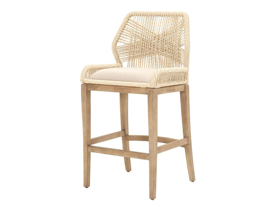 Wicker Loom Sand Barstool Shop For Affordable Home