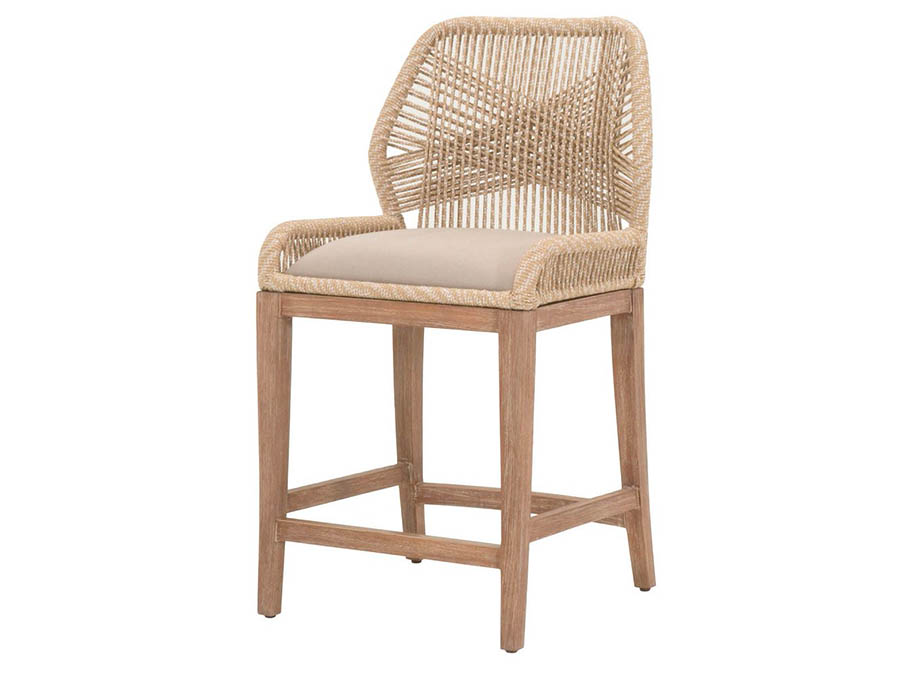 Wicker Loom Sand Counter Stool Shop For Affordable Home