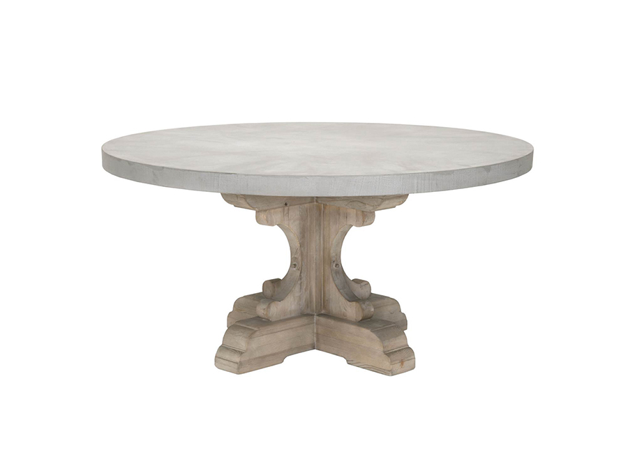 Bastille Round Dining Table WConcrete Top Set Shop For Affordable - Concrete pedestal dining table