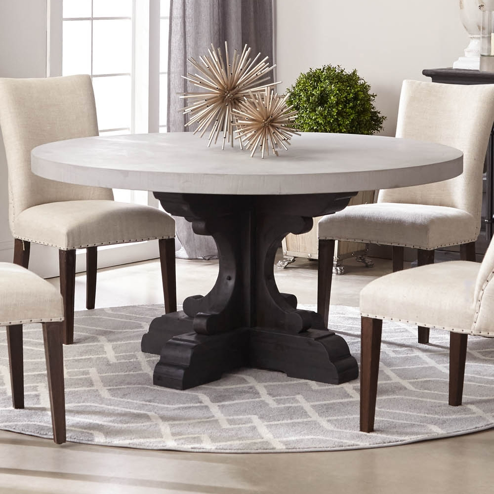 Bastille Round Dining Table W Concrete Top