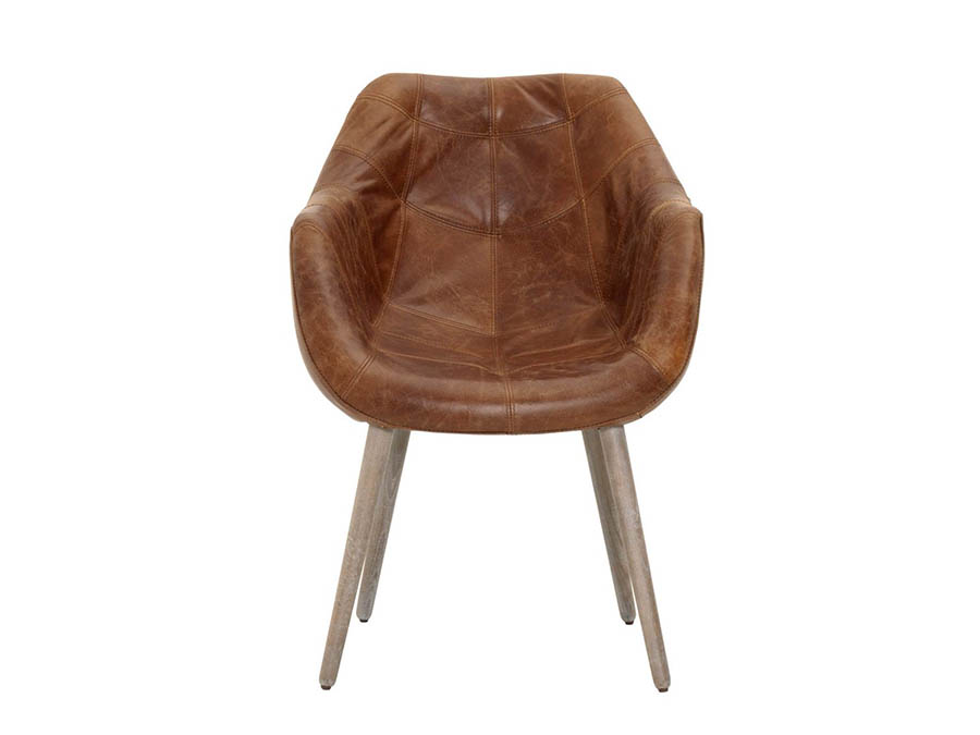 Morris Chestnut Antique Leather Dining Chair - Morris Chestnut Antique Leather Dining Chair - Shop For Affordable