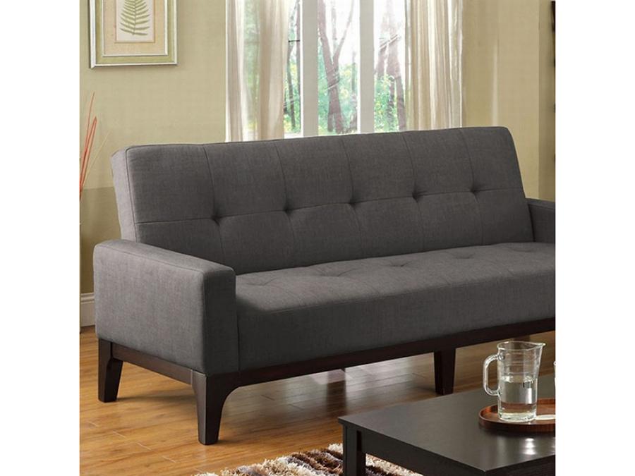 Laporte Charcoal Fabric Futon Sofa Bed
