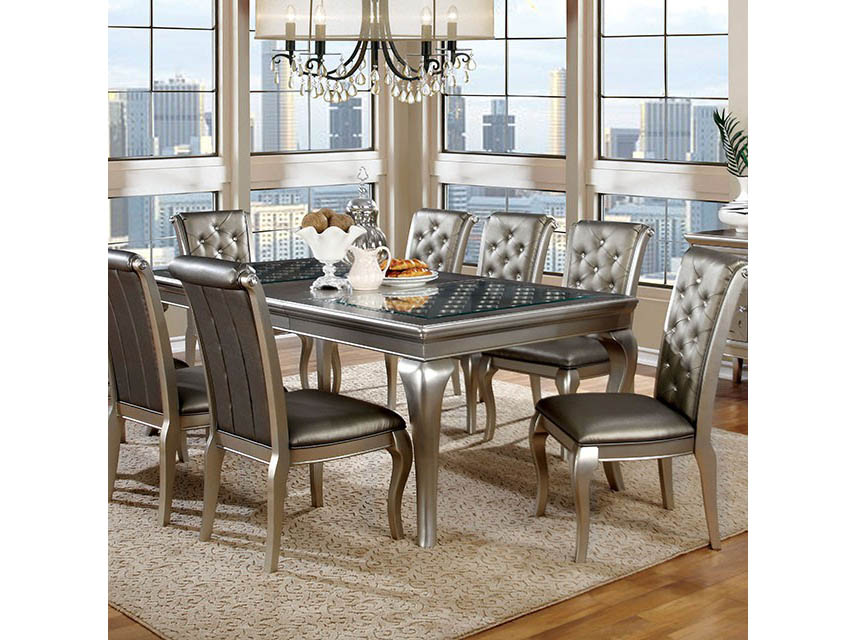 amina dining table - Silver Dining Table