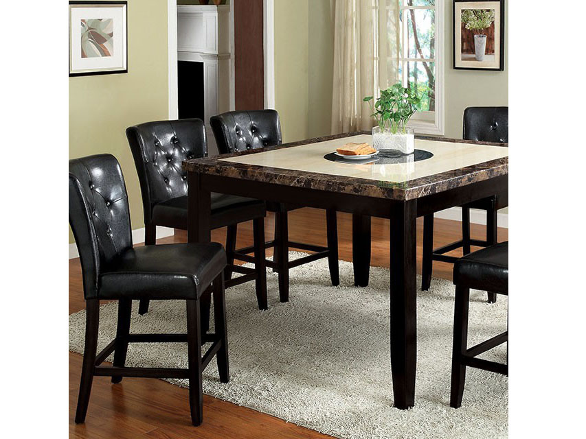 Belleview ii black wood square counter height table set shop for belleview ii square counter httable watchthetrailerfo