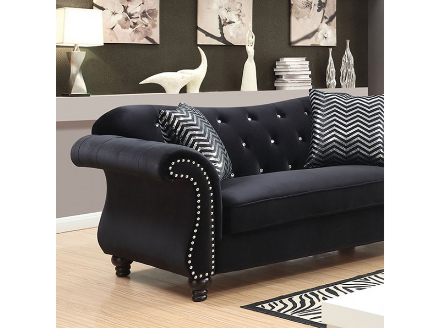 Magnificent Jolanda I Black Sofa Set Uwap Interior Chair Design Uwaporg
