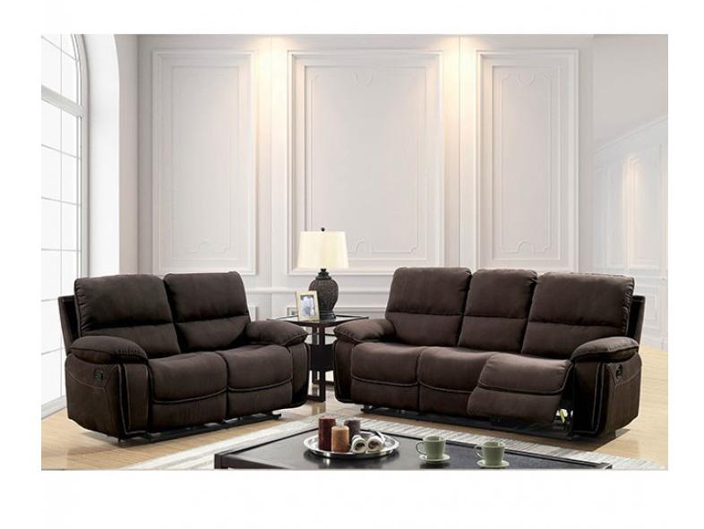 Amaris Dark Brown Sofa Set