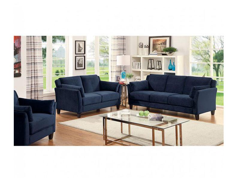 Ysabel Navy Sofa Set