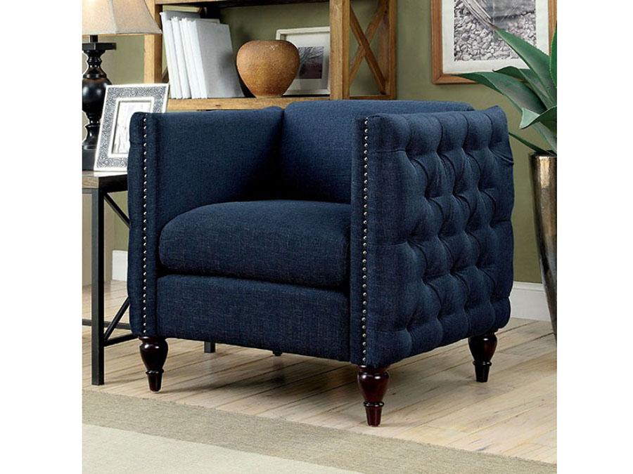 Emer Dark Blue Chair