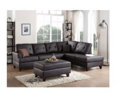 2Pcs Sectional Sofa In Brown