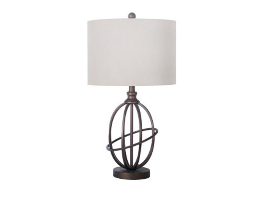 Ordinaire Manasa Metal Table Lamp In Bronze Finish