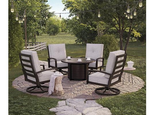Castle Island Round Fire Pit Table Set Shop For Affordable Home - Round fire pit table and chairs