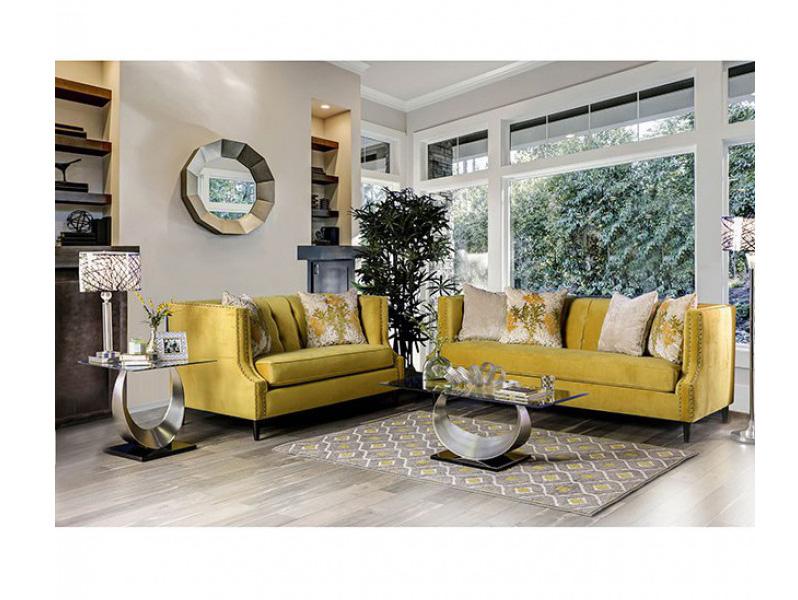 Tegan Royal Yellow Sofa Set