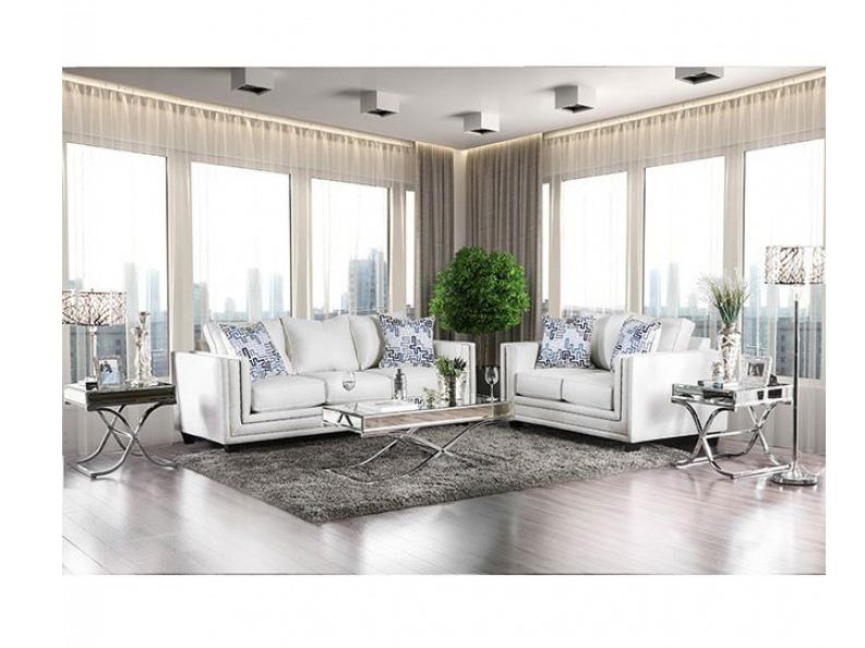 Charmant Ilse Off White Sofa Set