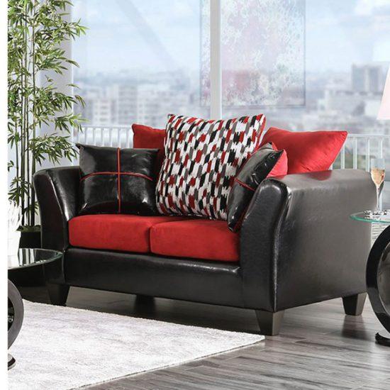 Braelyn Black/Red Sofa Set
