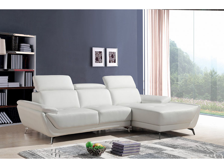 White Eco-Leather Sectional Sofa - Shop for Affordable Home ...
