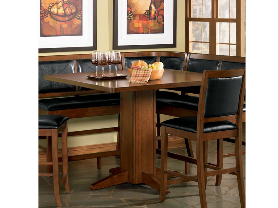 brown counter height pedestal dining table shop for affordable