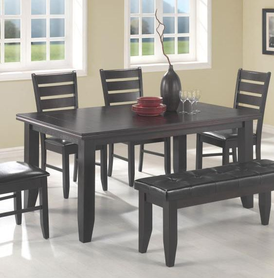 Cappuccino Rectangular Dining Table & Cappuccino Rectangular Dining Table Chair Bench Set - Shop for ...