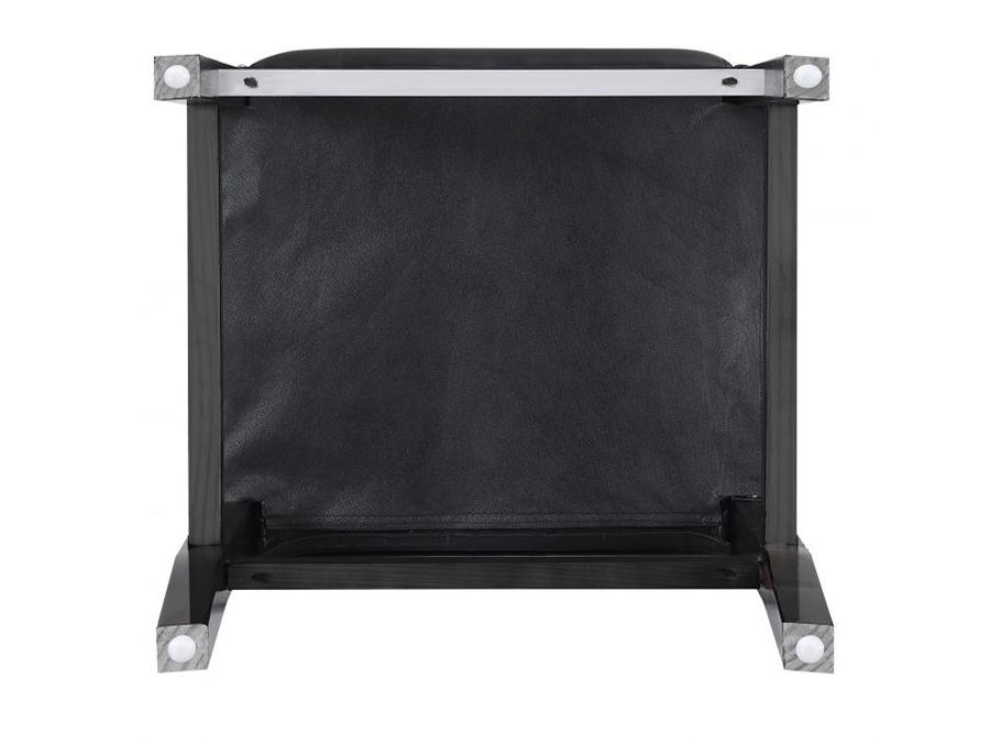 Black Leatherette Bar Stool Set Of 2 Shop For Affordable