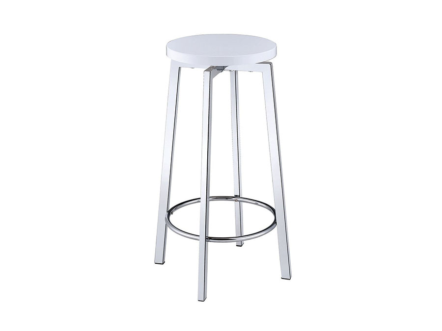 2pcs Glossy White Stool Shop For Affordable Home