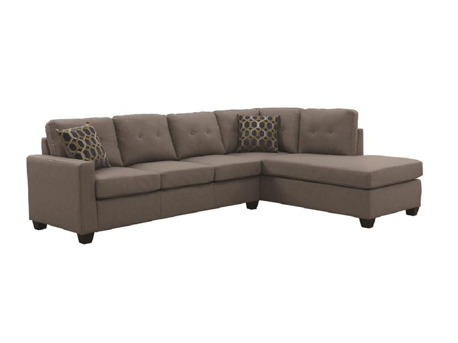 Stupendous Taupe Sectional Bralicious Painted Fabric Chair Ideas Braliciousco