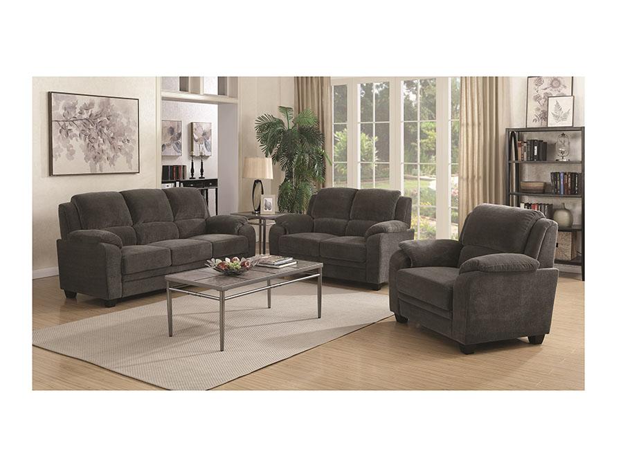 Charcoal Sofa Set