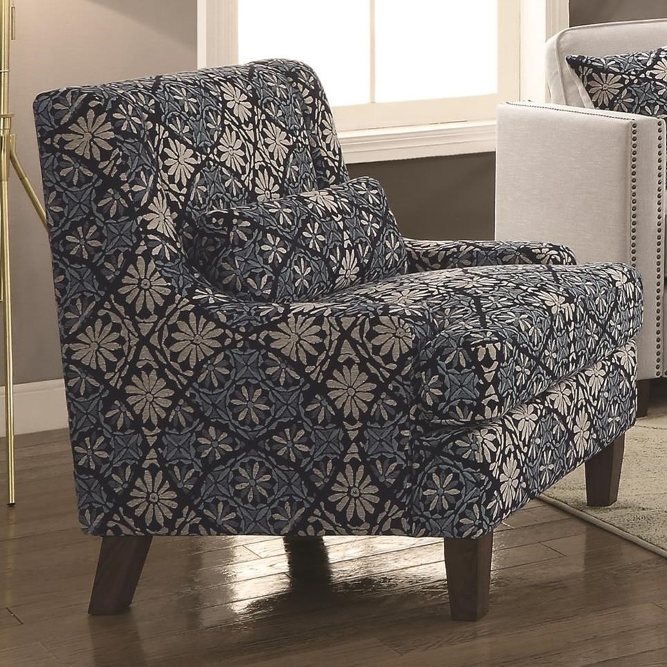 Phenomenal Accent Chair In Indigo Gmtry Best Dining Table And Chair Ideas Images Gmtryco