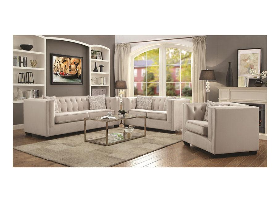 Ivory Sofa Set