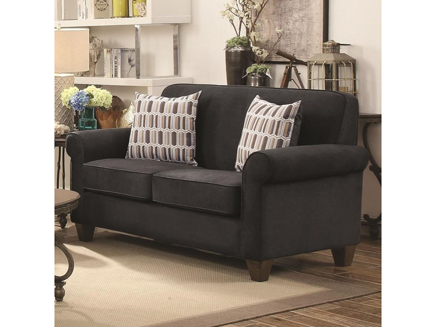 Charmant Graphite Loveseat