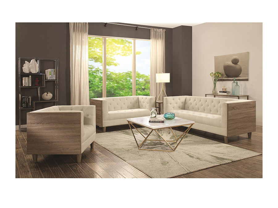 Ordinaire Cream Sofa Set