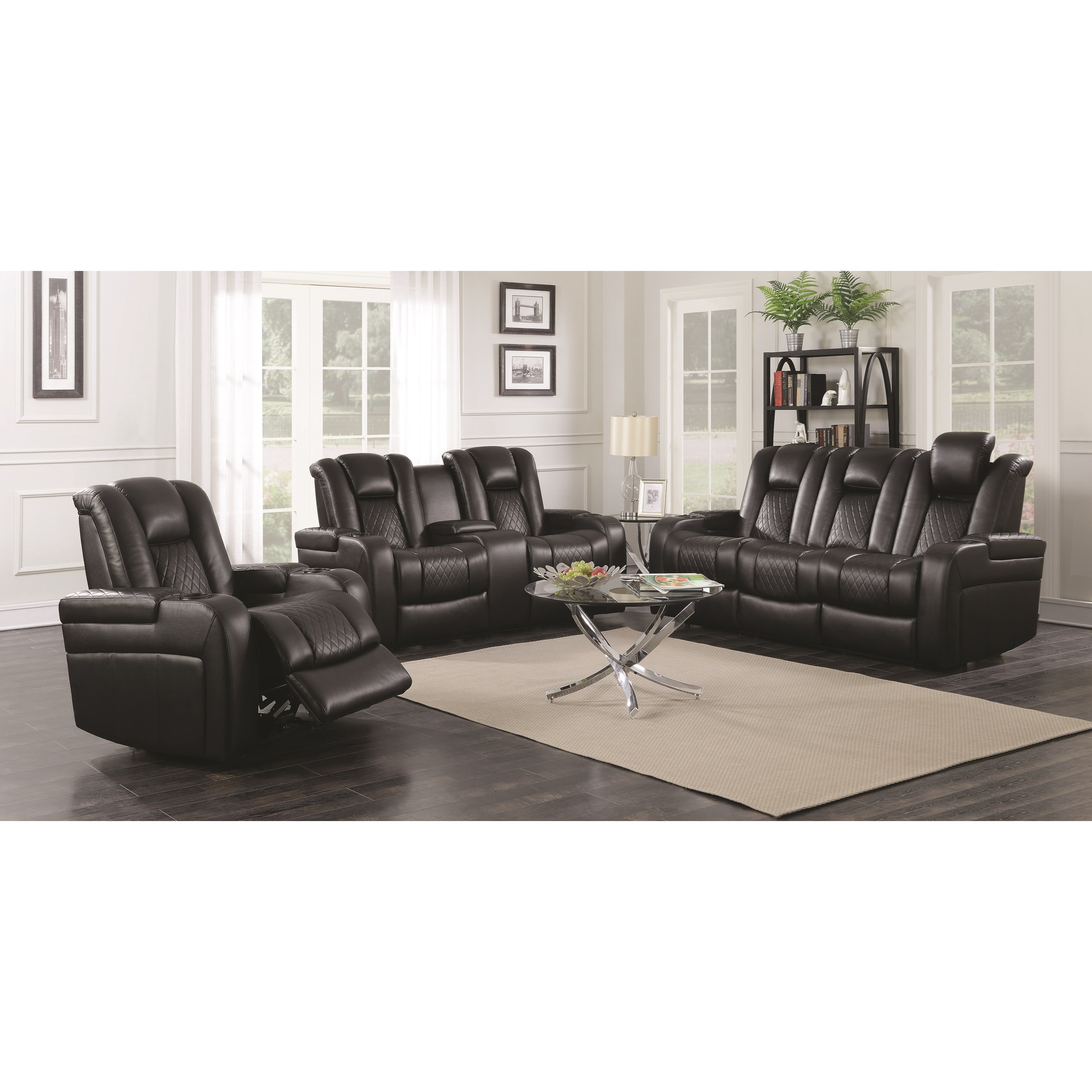 Black Power Reclining Sofa Set Shop for Affordable Home Furniture