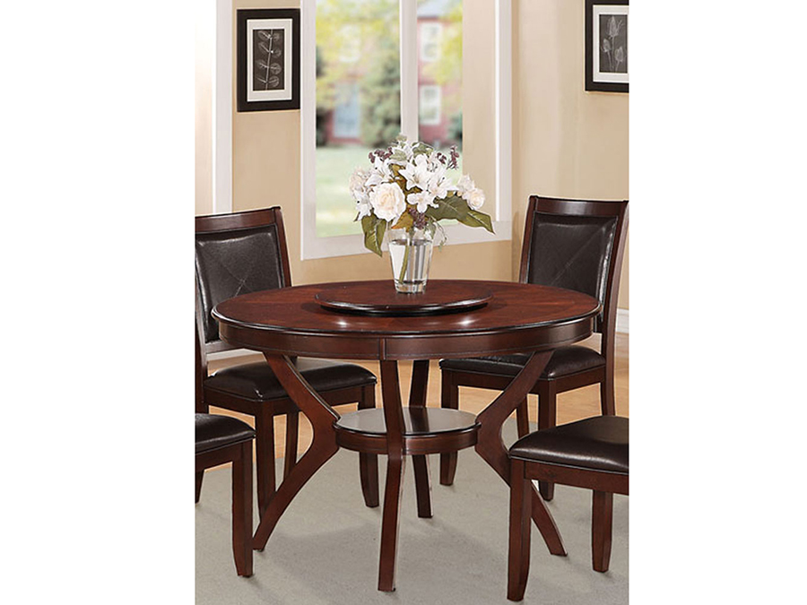 Round Dining Table W/Lazy Susan