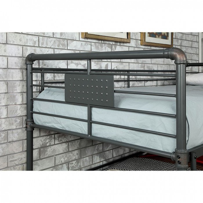 Olga III Twin/Full/Queen Bunk Bed In Antique Black