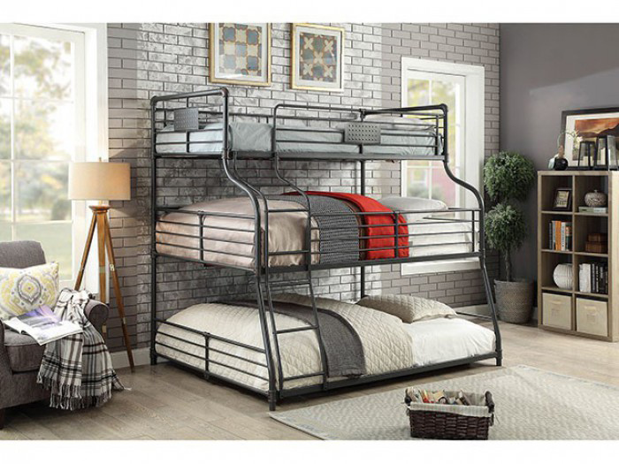 Merveilleux Olga III Twin/Full/Queen Bunk Bed In Antique Black