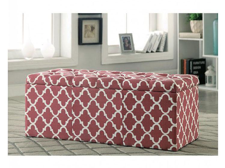 Pleasant Zaira I Red Storage Ottoman Machost Co Dining Chair Design Ideas Machostcouk