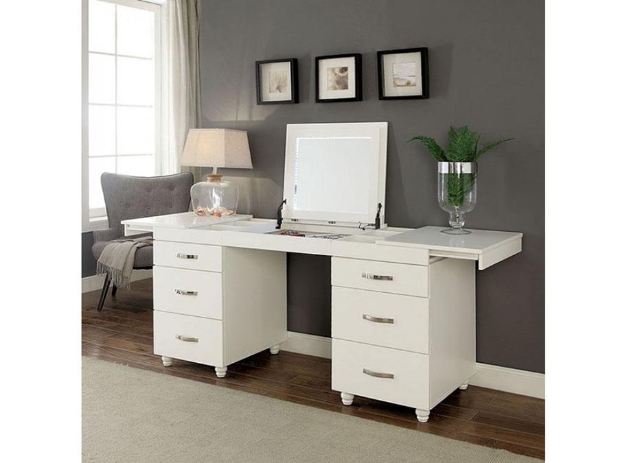 quality design f9769 ccf10 Verviers White Vanity Desk