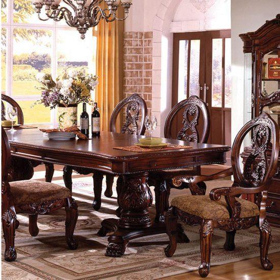 Etonnant Tuscany Traditional Antique Cherry Dining Table Set