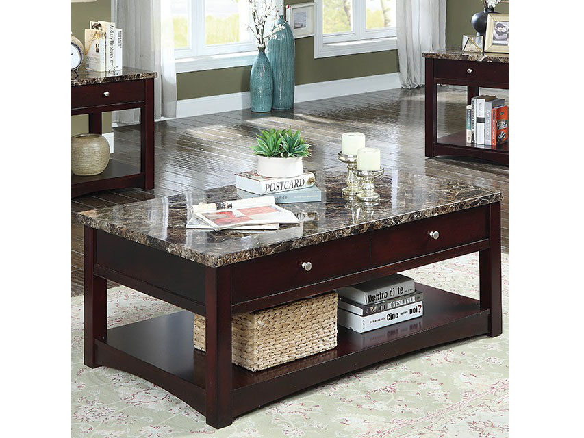 Cherry Coffee Table.Cass Brown Cherry Coffee Table