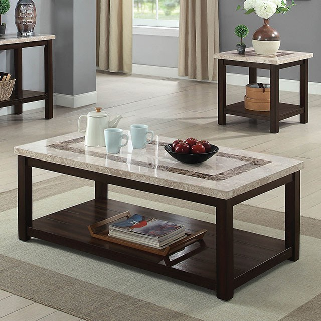 Rosetta Dark Walnut Coffee Table